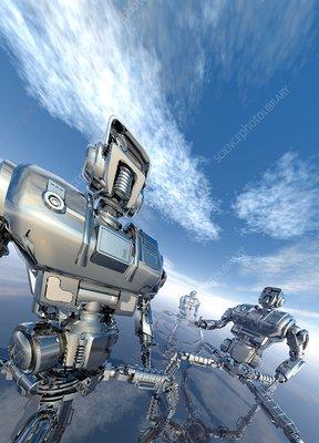 Military robots, artwork