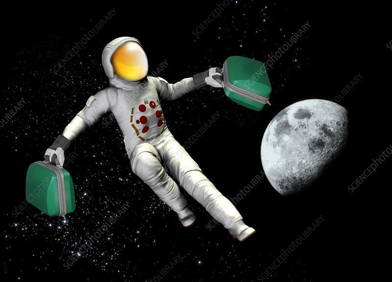 Space tourist, conceptual artwork