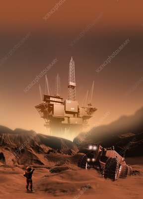 Mining on Mars, artwork