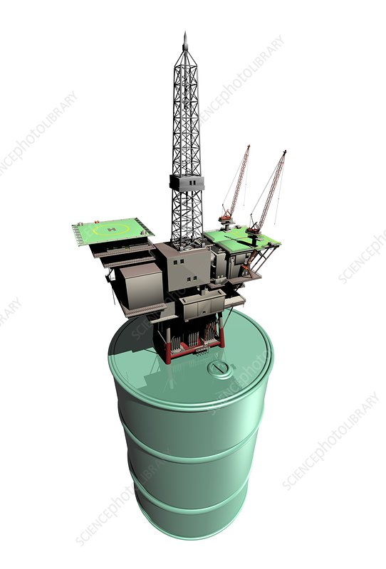 Oil rig, conceptual artwork