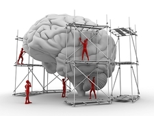 Brain with workers, mental health