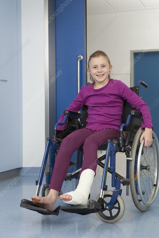 Girl in wheelchair foot in plaster  sc 1 st  Science Photo Library & Girl in wheelchair foot in plaster - Stock Image F003/4330 ...