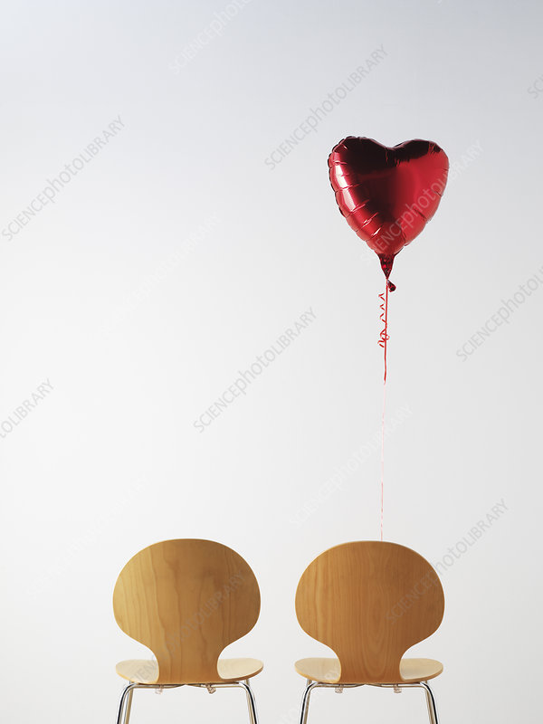 Office Chairs and love heart balloon