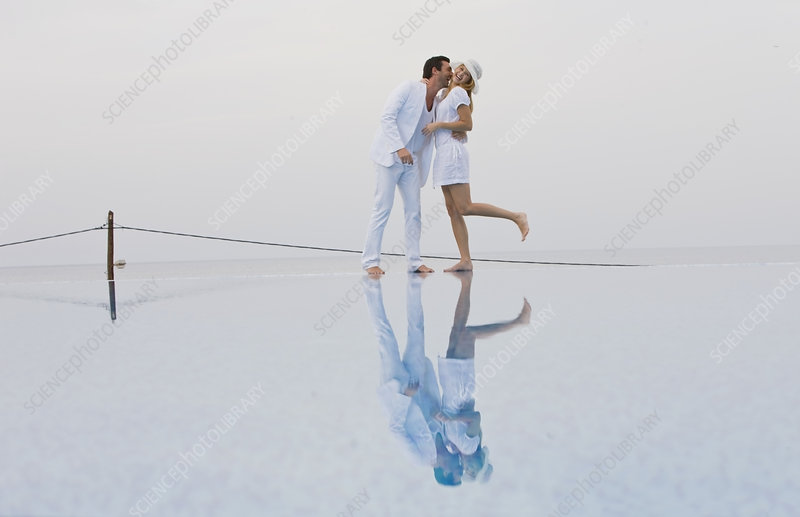 Couple in white