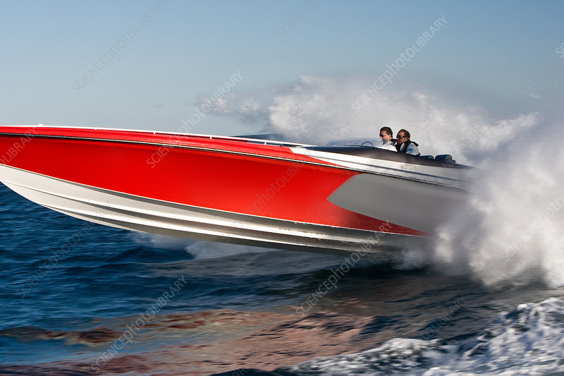 Powerboat racing at high speed