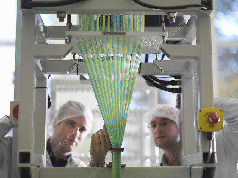 Technicians Weaving Medical Product