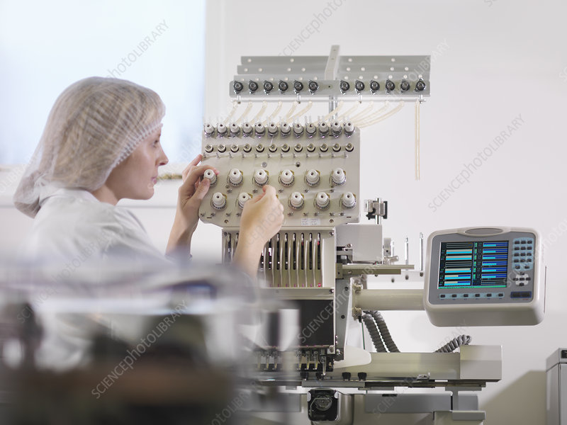 Technician Weaving Medical Product