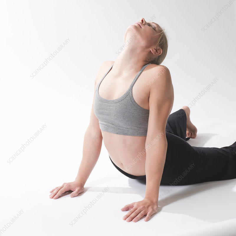 woman in stretching