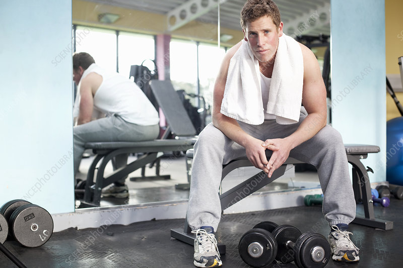 Man in gym