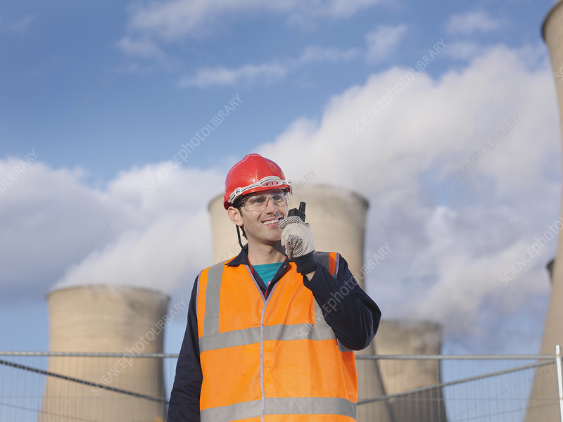 Male Worker At Power Station