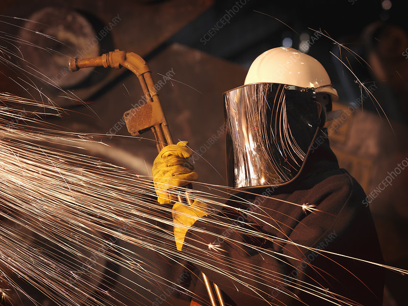 Steel Worker With Sparks