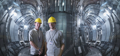 Scientists Inside A Fusion Reactor