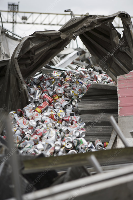 Beer cans for recycling