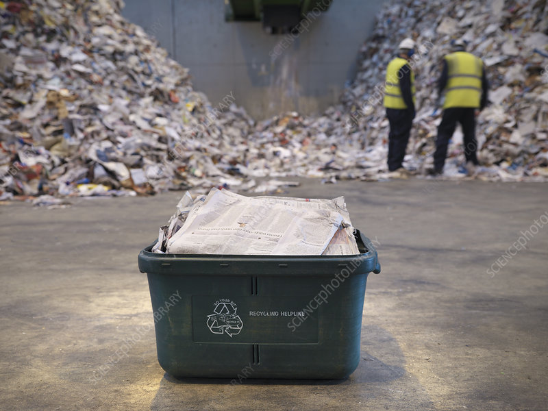 Waste Recycling Box In Plant