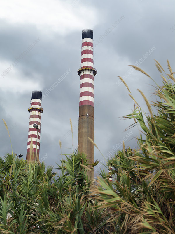 Power station chimneys