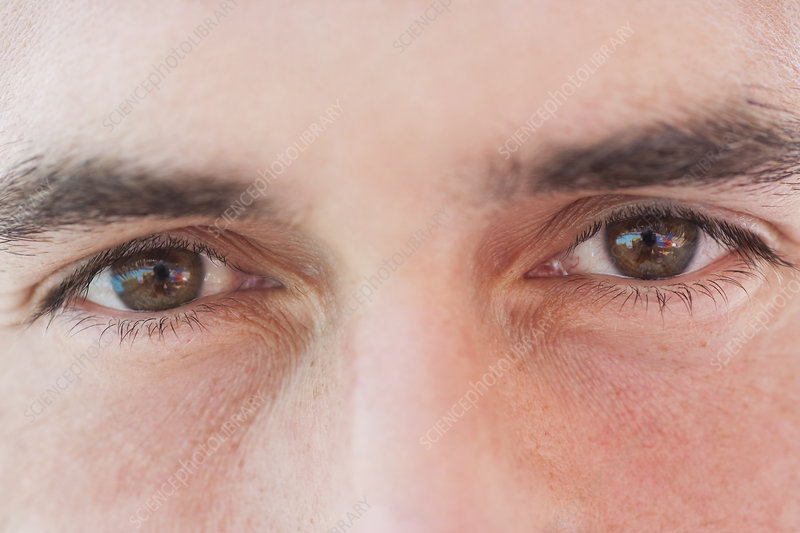 Close Up Mans Eyes