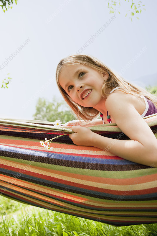 Young Girl In Hammock