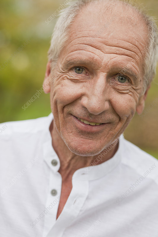Old Man Smiling Stock Image F003 7459 Science Photo