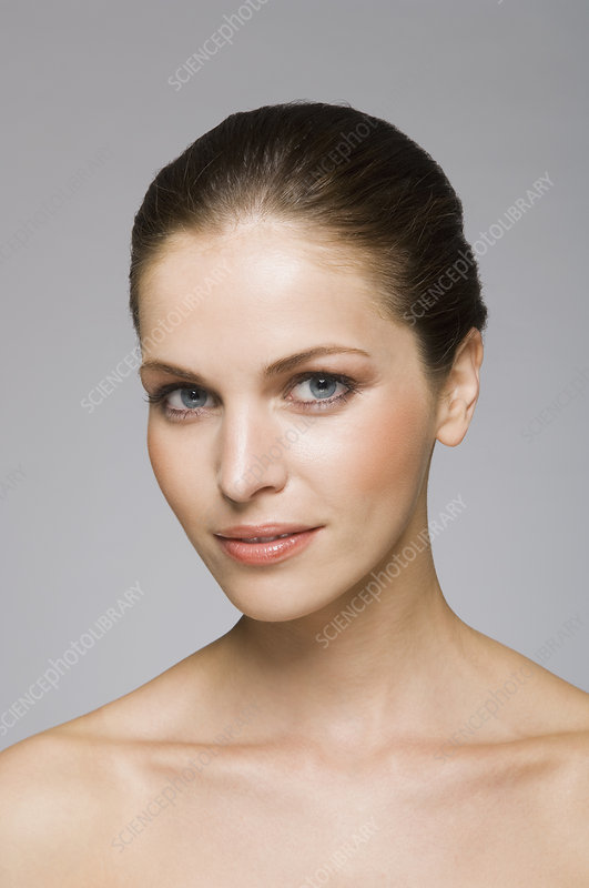 Female beauty model looking at camera