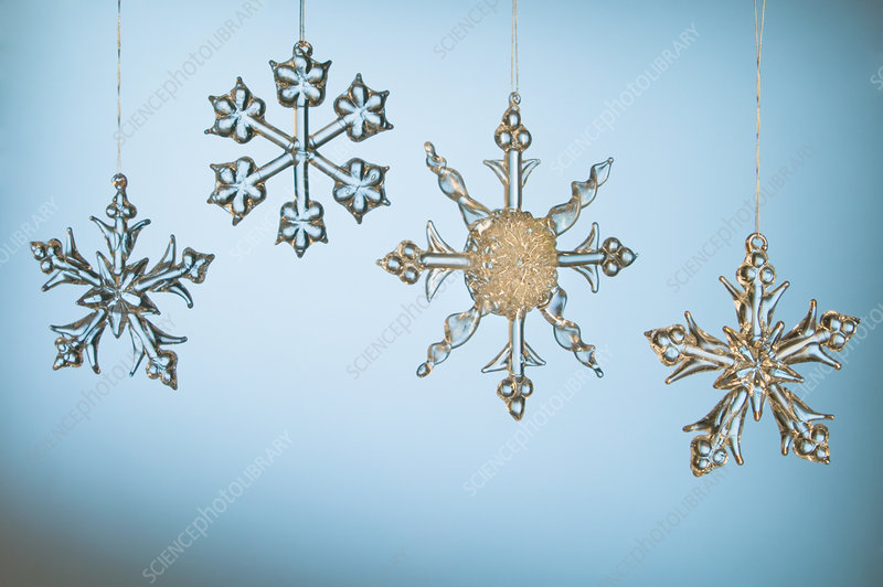 Crystal snowflake Christmas ornaments