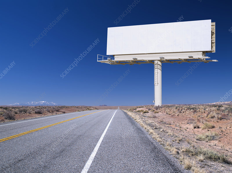 Blank Billboard Sign by Road