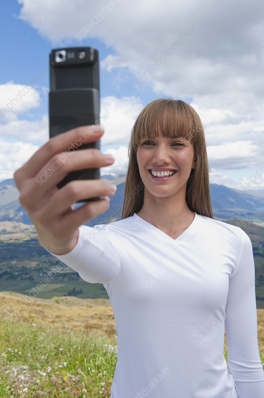 Woman Taking Photo of Herself