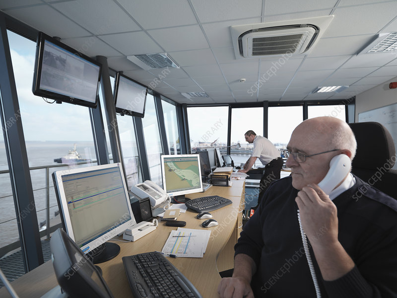 Port Workers In Control Tower