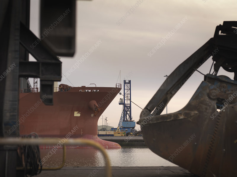 Ships & Heavy Machinery At Port