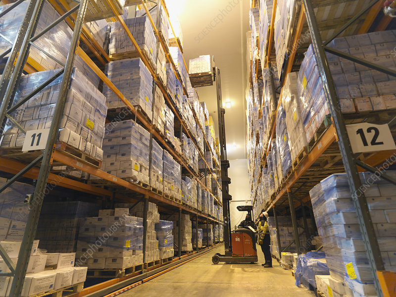 Food Being Stored In Warehouse