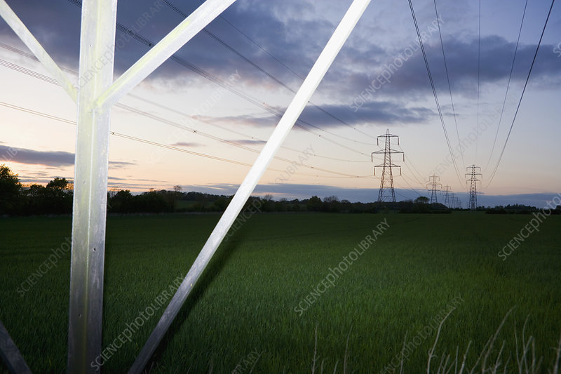 Pylons and power cables 4