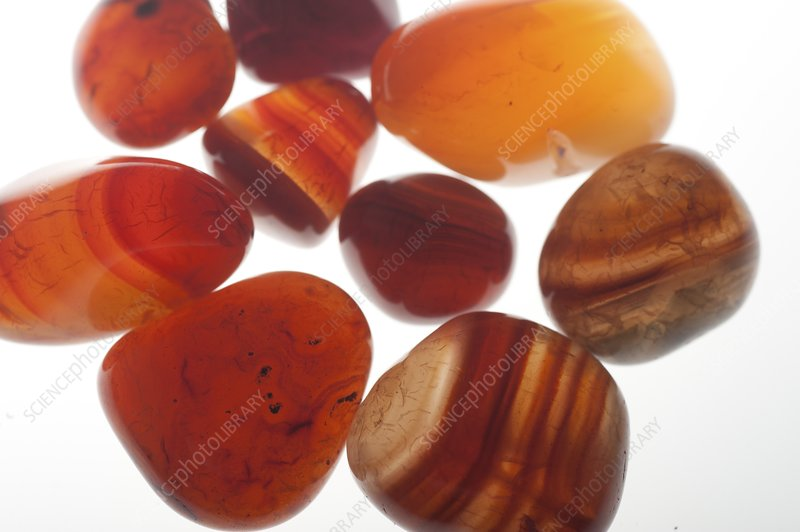 Assortment of Red Gemstones
