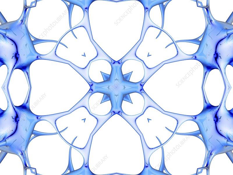 Neurons, kaleidoscope artwork
