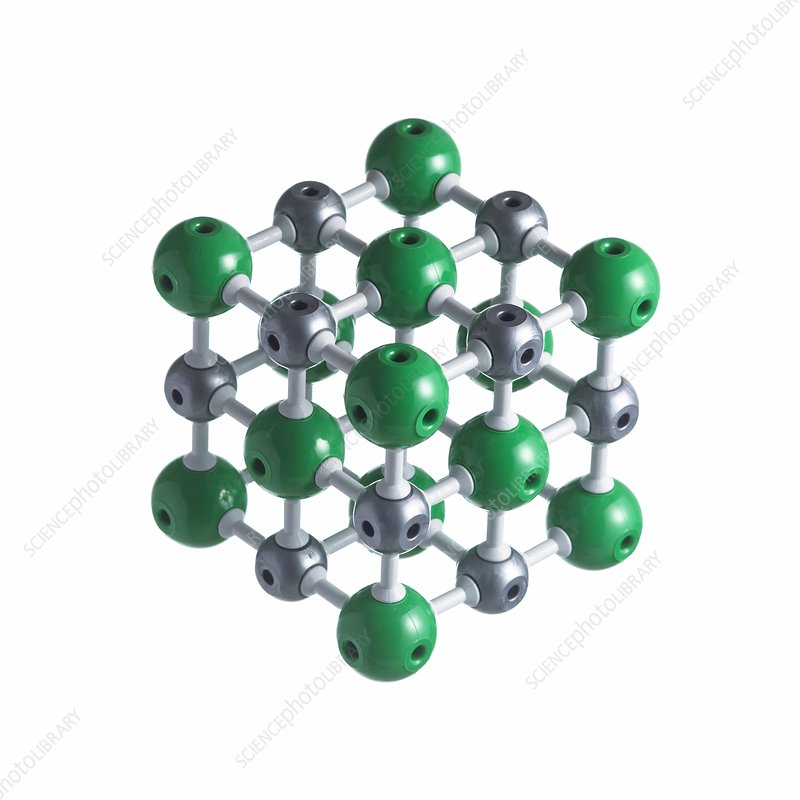 Sodium chloride lattice