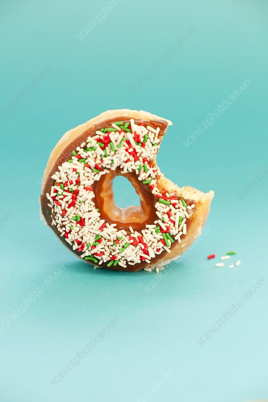 Part-eaten doughnut
