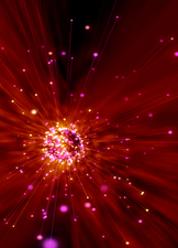 Exploding star, conceptual artwork