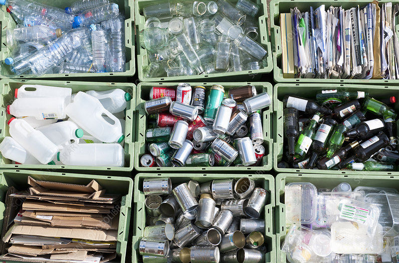 Sorted Recycling in Containers