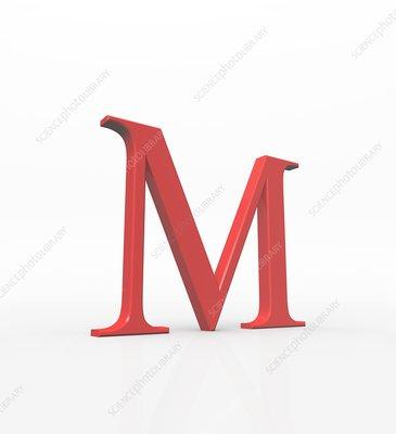 Greek letter Mu, upper case