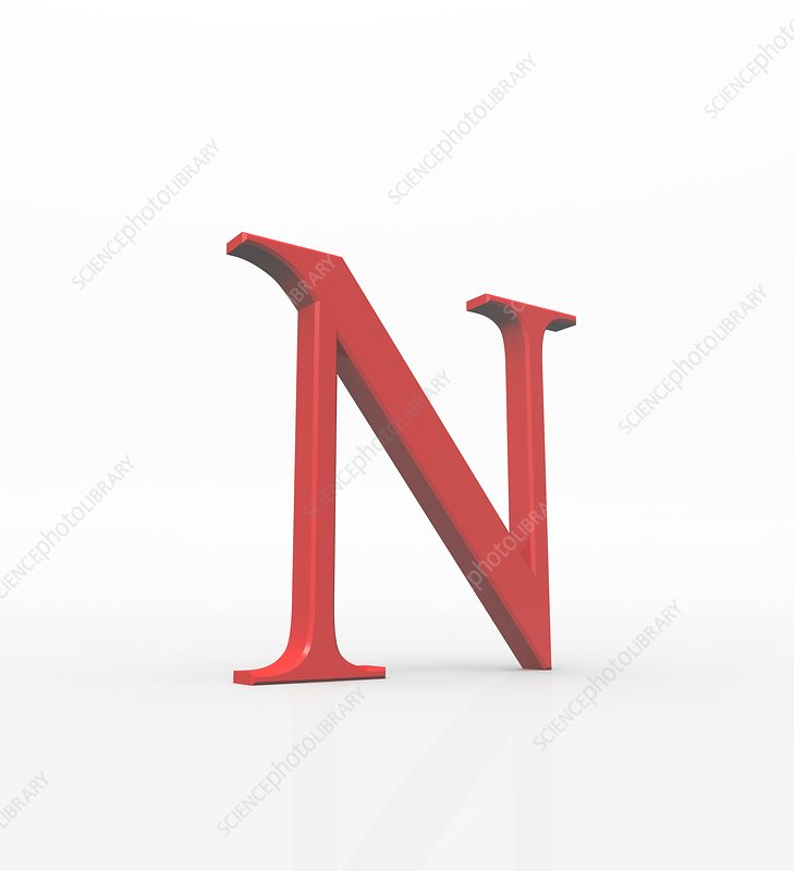 Greek letter Nu, upper case