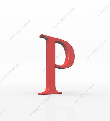 Greek letter Rho, upper case