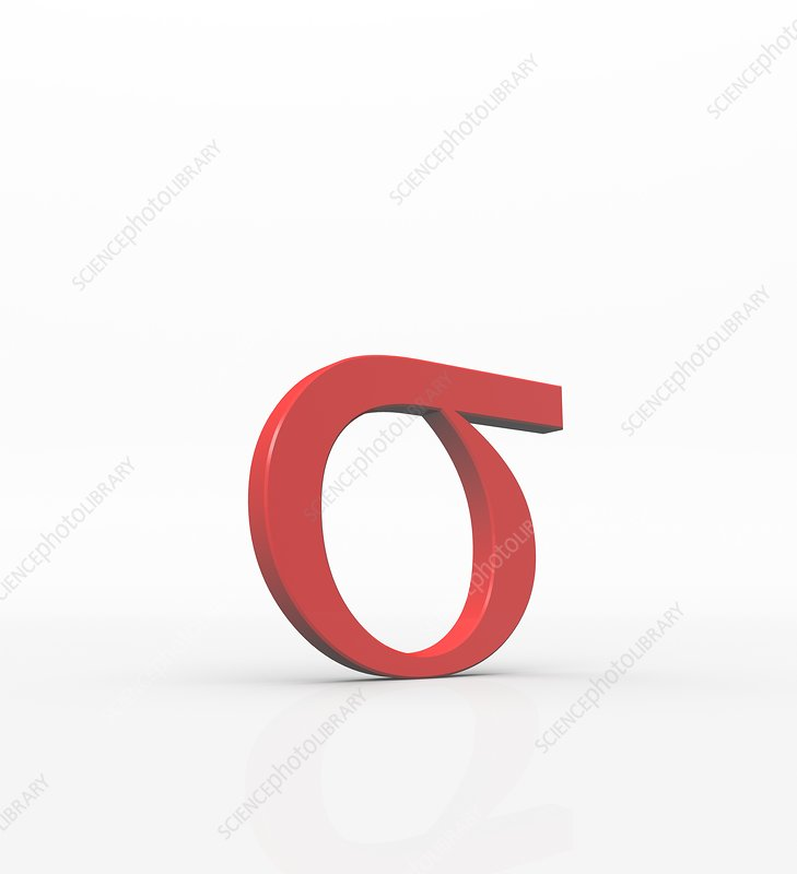 Greek Letter Sigma Lower Case Stock Image F0040903 Science