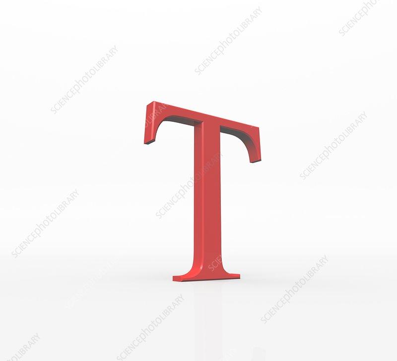 Greek Letter Tau Upper Case Stock Image F0040906 Science Photo