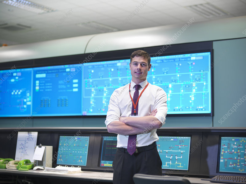 Operator in power station control room