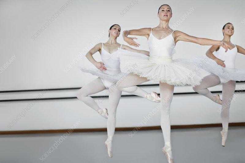 Women in ballet costumes dancing