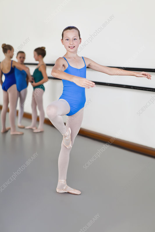 Ballet dancer posing in studio