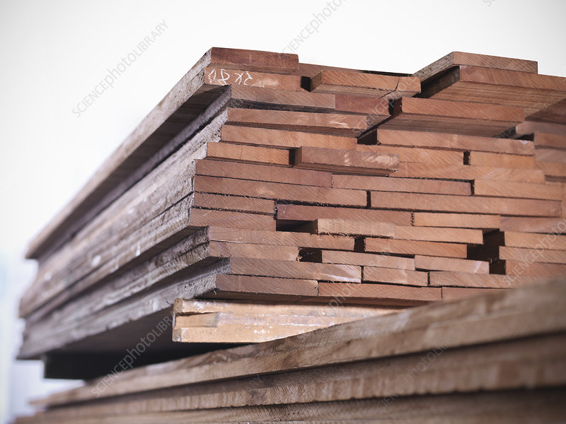 Close up of planks of wood in joinery