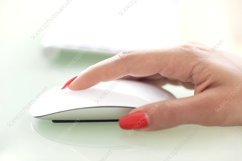 Woman using a mouse