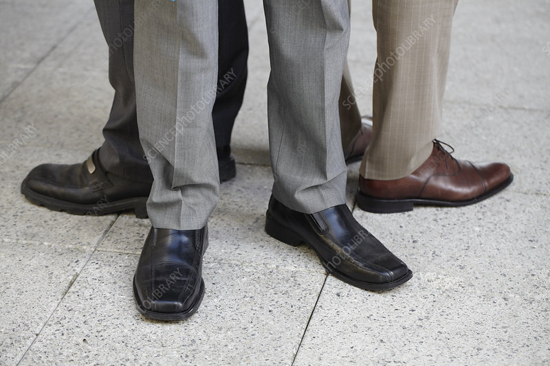 Close up of businessmen's shoes