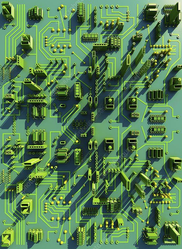 Circuit city, computer artwork
