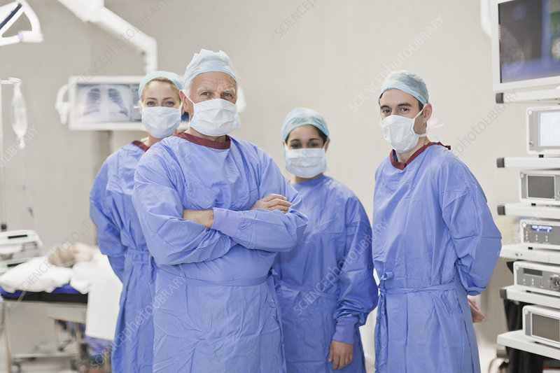 Team of doctors in operating room