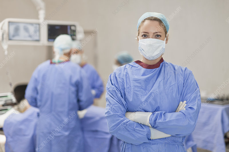 Doctor standing in operating room